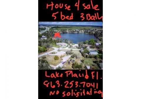 5 bedroom Lake house in Central Fl.